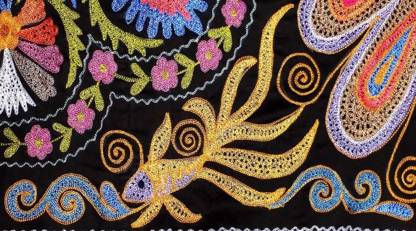 Золотошвейное искусство в Узбекистане — фото 1